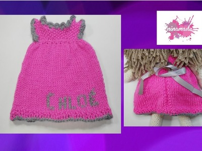 DIY. Tejer Vestido Para Muñeca. How To Knit A Doll Dress.