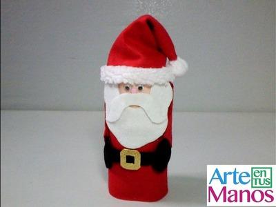 Funda de Papá Noel en Fieltro, vestido navideño en fieltro para latas de bebidas, dulces, galletas