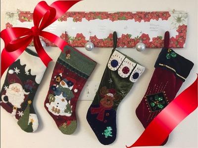 Manualidad Navideñas de Organizador de botas Navideñas.