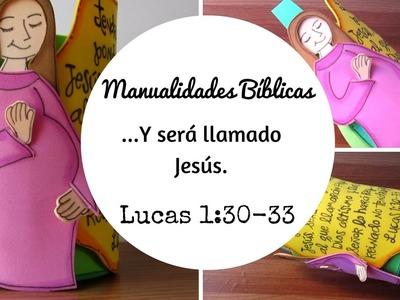 Manualidades Bíblicas sobre el nacimiento de Jesús, 1 parte.Manualidades navideñas