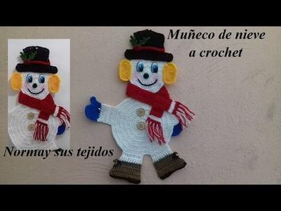 Muñeco de nieve en crochet