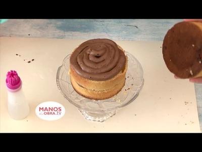 TORTA Y CUPCAKES DECORADA CON CHOCOLART