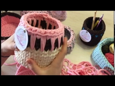 Tutorial 2: Como Hacer Canasto de Trapillo a Crochet