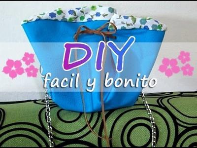 Bolso para mamá fácil y barato -DIY-. how to make an Easy and cheaper bucket bag