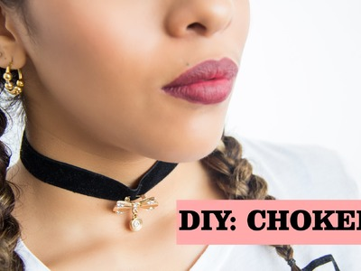 DIY: Choker! Super Facil - Haz tu propio Choker. Mafer Benites