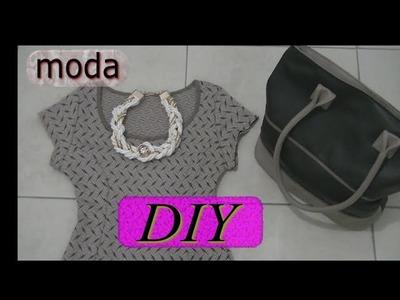 Haz un Collar blanco trenzado de moda DIY