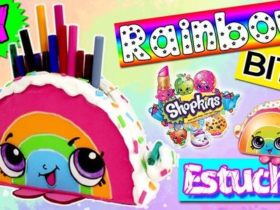 LAPICERA, Estuche o Neceser ARCOIRIS DIY * Manualidades SHOPKINS Rainbow Bite