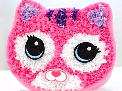 Cojín Gato de Plush Craft Purr-fect Pillow. Manualidades para niños, juguetes.