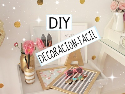DIY DECORACION ♡ ECONOMICO Y SENCILLO!!