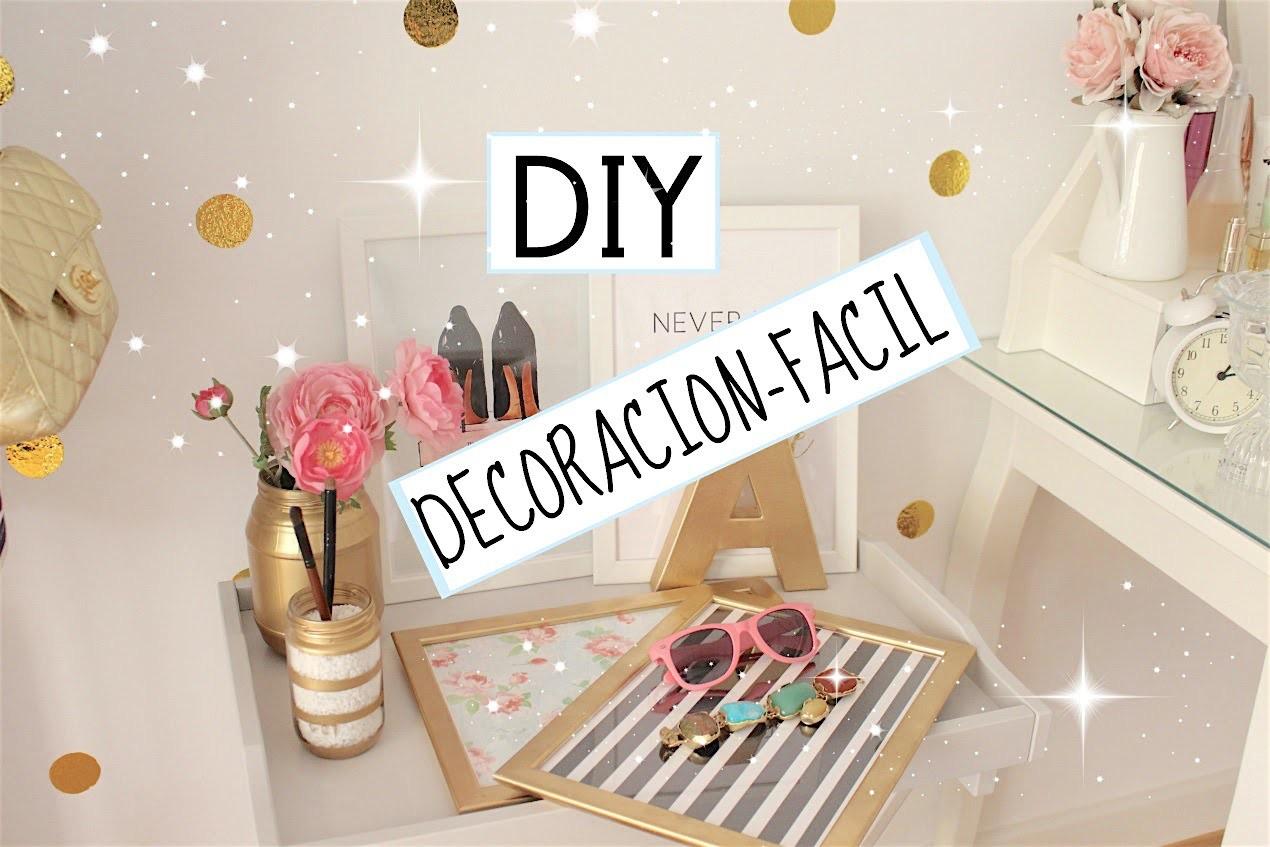 DIY DECORACION ♡ ECONOMICO Y SENCILLO!!