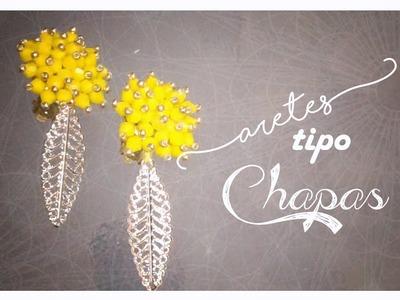 Haz tus propios Aretes tipo CHAPAS -Bisuteria con Kath Craft-