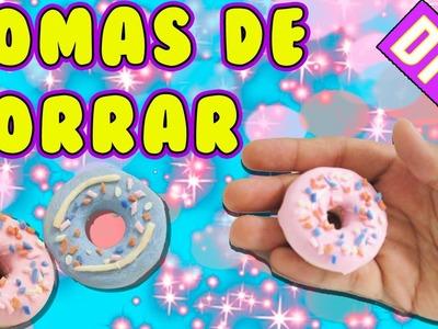 DIY  COMO HACER GOMAS DE BORRAR CASERAS DONUTS O DONAS