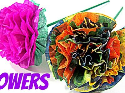 DIY: Flores de papel. Paper flowers.
