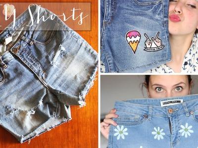 DIY Shorts - Con parches, pintados y deshilachados | Carolina Llano