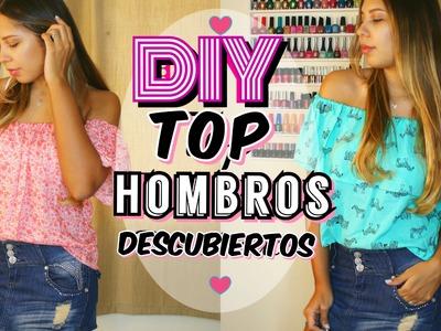 DIY TOP HOMBROS Descubiertos | Off the Shoulder | Mirianny