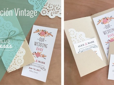 DIY: Tutorial Invitación Vintage