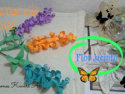 Flores de Papel. Flor de Jacinto.DIY Curly Paper Flowers. Hyacinths