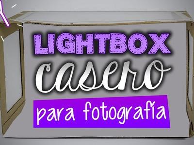 LIGHTBOX de cartón para FOTOGRAFÍA - Tutorial