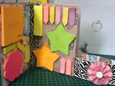 Super porta Post-It de carton reciclado fácil. tutorial rápido DIY para organizarte