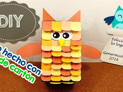 DIY | Búho hecho con caja de galletas | Reciclaje | Fácil | PumitaNegraArt