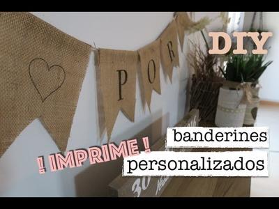 ♡ DIY DECORACION BODA ♡ | Tutorial como hacer banderines personalizados #3 | STEFFIDO