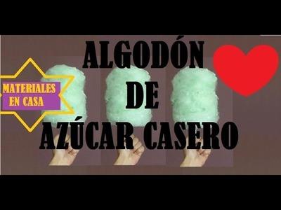 DIY FÁCIL❤ ALGODÓN DE AZÚCAR CASERO.MATERIALES ENCONTRADOS EN CASA!!
