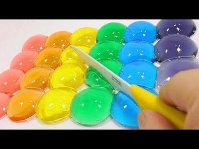 DIY globos de agua o gotas de lluvia con pegamento . Experimentos fáciles