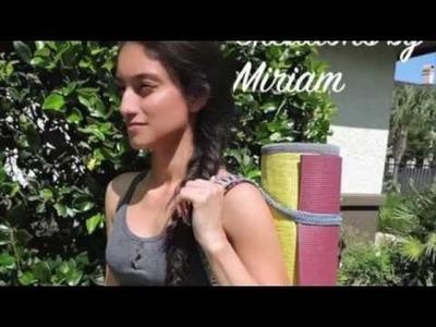 DIY paso a paso Correa strap para llevar nuestro Yoga Mat Carrier
