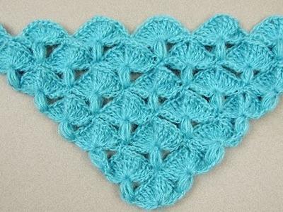 Crochet: Punto Abanico y Puff en V