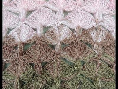 Crochet: Punto Abanico y Puff Recto
