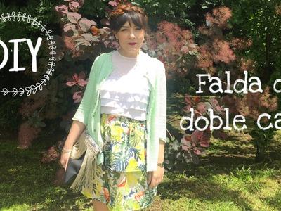 DIY| Falda de doble capa| Costura fácil!