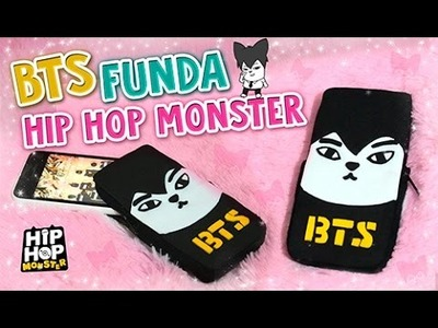 DIY KPOP ✔ FUNDA PARA CELULAR DE BTS ♡ HIP HOP MONSTER. JIN ♡ GOMA EVA.FOAMY l Fabbi Lee