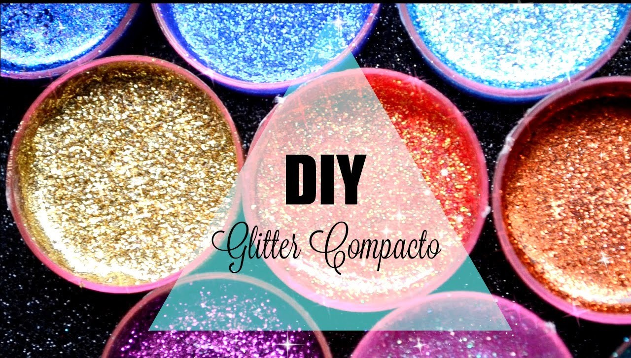 Haz sombras con Glitter.DIY Glitter Injections