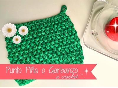 Punto Piña o Garbanzo a crochet, empezado sin montar cadenitas