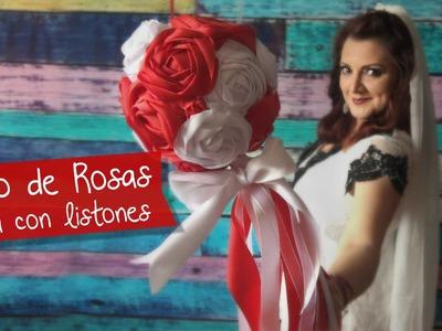 Ramo de Rosas con Listones :: Boda DIY :: Chuladas Creativas