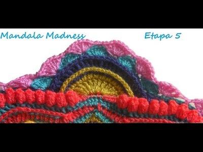 Tutorial Crochet Mandala Madness 5 paso a paso en español