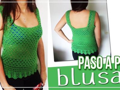 Blusa tejida en Crochet - Tutorial paso a paso