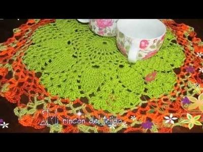 Carpeta o Centro de Mesa tejido con técnica de crochet