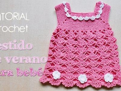Como tejer vestido a crochet para bebe (2.2)