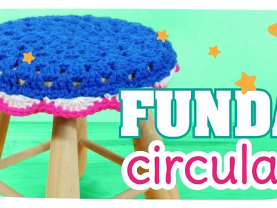 Funda Granny Circular a Crochet (para banqueta) - Tejido Kawaii #03