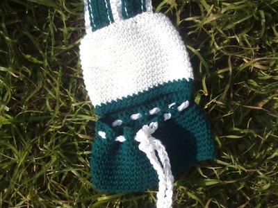 Gorro de conejo azul en crochet. Muy fàcil.