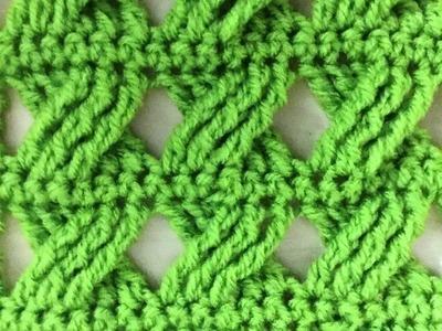 Hermoso punto cruzado tejido a crochet facil