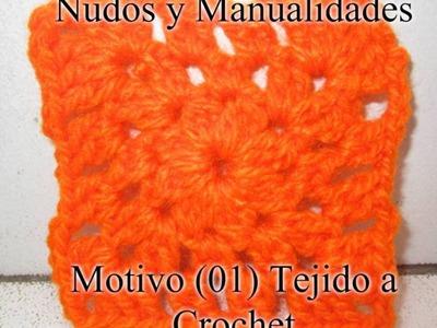MOTIVO.CUADRADO  (01) TEJIDO A CROCHET