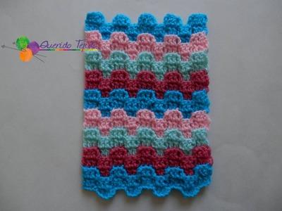 Punto puzzle a crochet - Puzzle stitch ENGLISH SUB