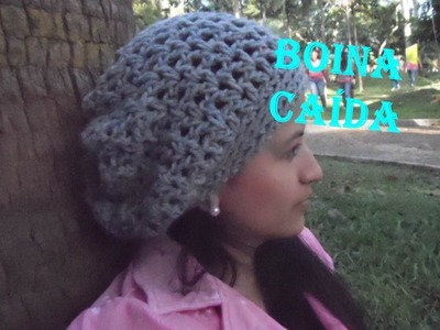 Tutorial BOINA CAÍDA a Crochet -  Puntos Básicos FÁCIL
