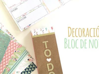 Como decorar un bloc de notas - TUTORIAL Scrapbook