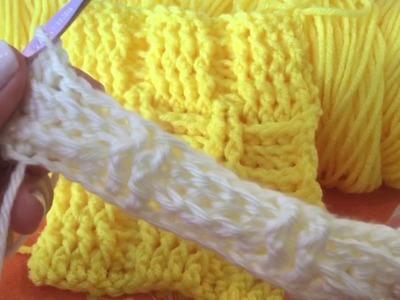 Cómo hacer Punto Cesta En Crochet