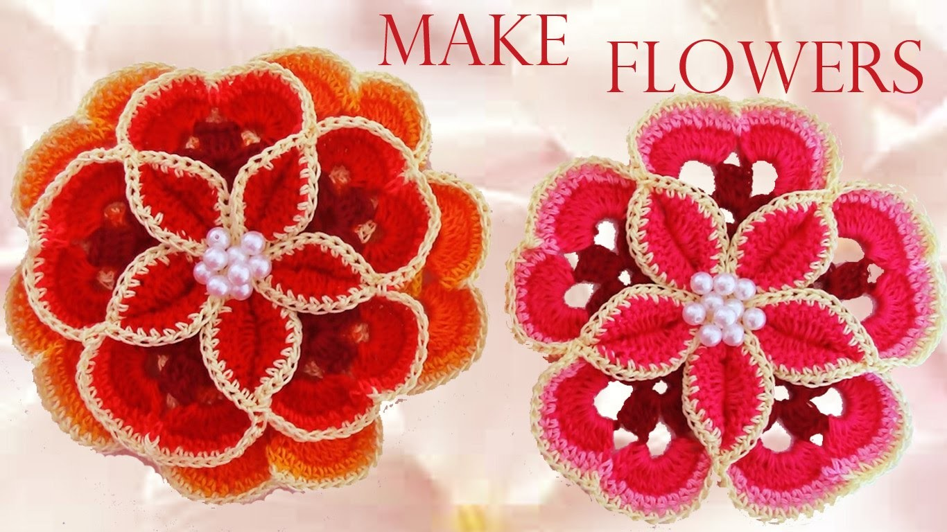 Como tejer las flores mas lindas fácil y rápido - How to make beautiful flowers easy knitting gift