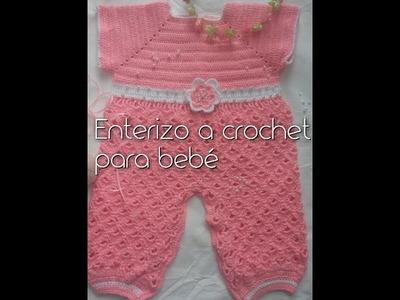 Enterizo para bebé a crochet o ganchillo