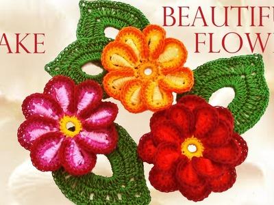 Como tejer fácil y rápido las mas hermosas flores - Make knitting very nice quick and easy